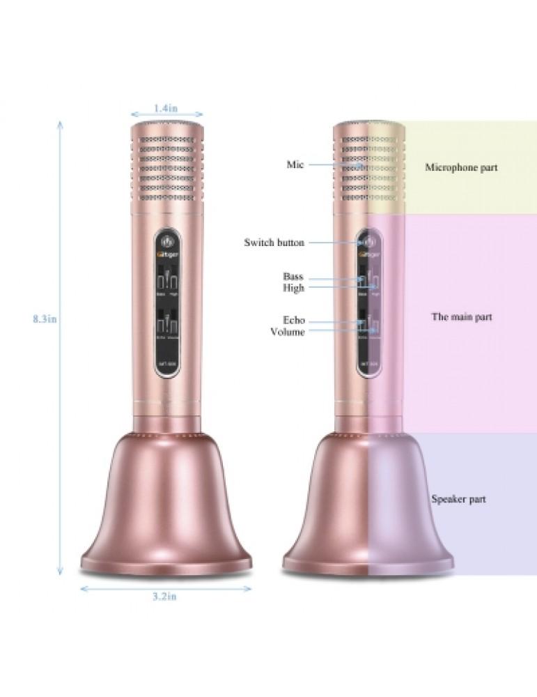 GBTIGER Bluetooth Speaker Wireless Microphone