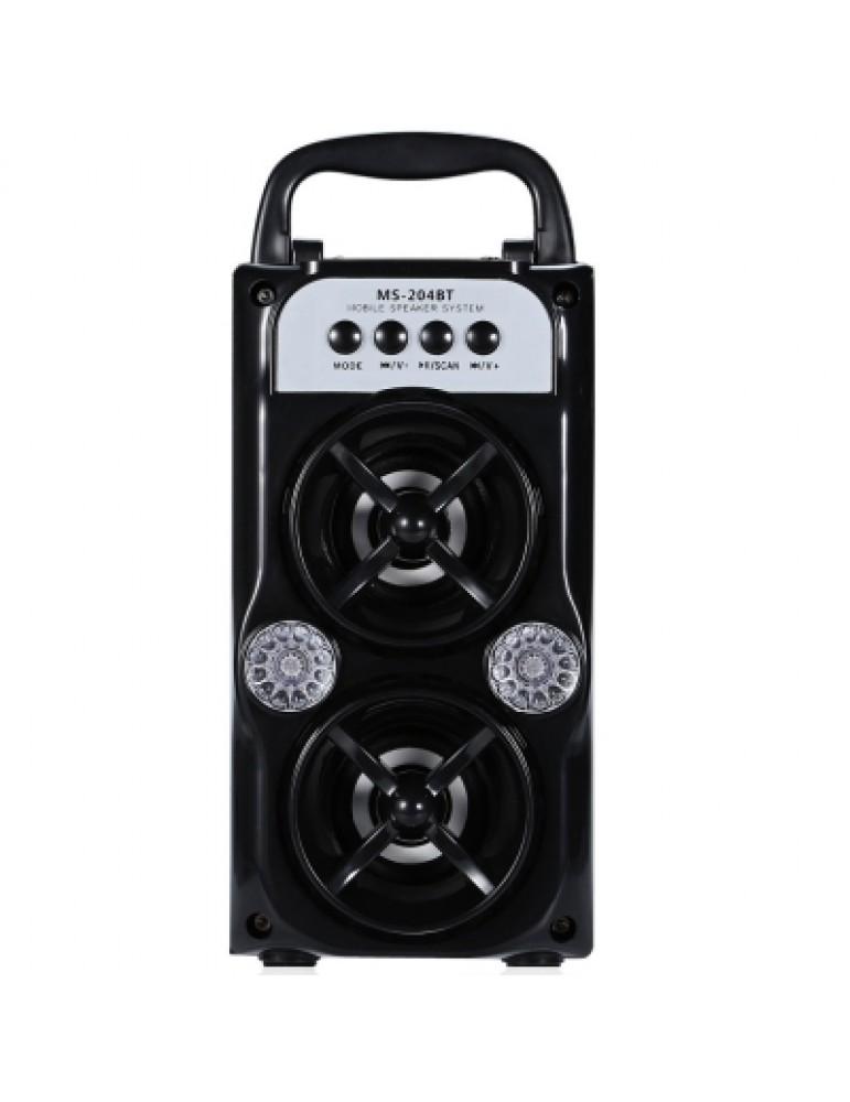 MS - 204BT Portable High Power Output FM Radio Wireless Bluetooth Speaker